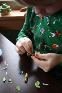 Simon Peeling Crayons