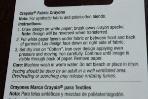 Fabric Crayon Directions