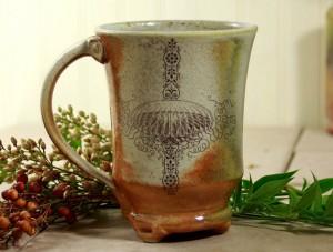 Wood and Soda fired Mug